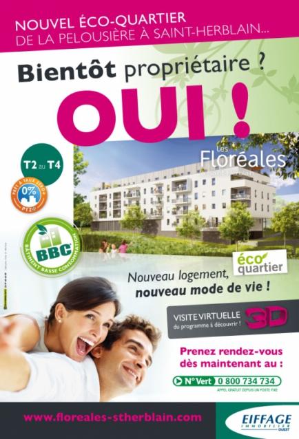 Annonce-presse pour Les Floréales à Saint-Herblain - Eiffage Immobilier
