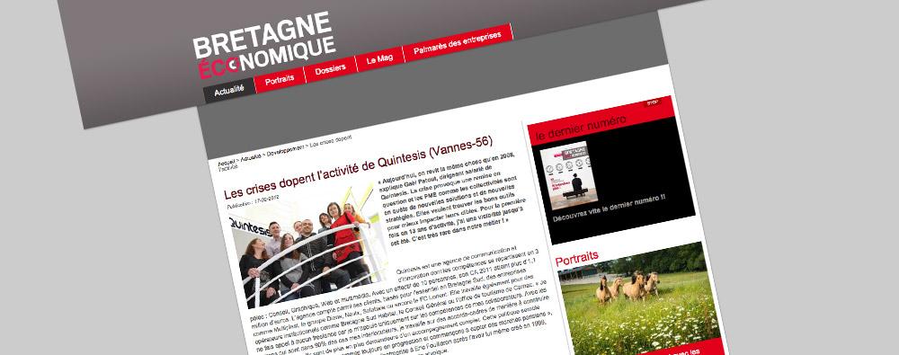 Interview de Gaël Patout, dirigeant de Quintesis Communication à Vannes - Bretagne Economique