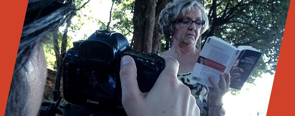 Actrice pour le tournage du spot des Libraires Ensemble