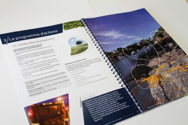 Exemple de page intérieure de l'Agenda 21 de la COCOPAQ