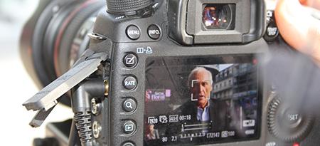 En tournage à Tours avec Jean-Marc Sylvestre