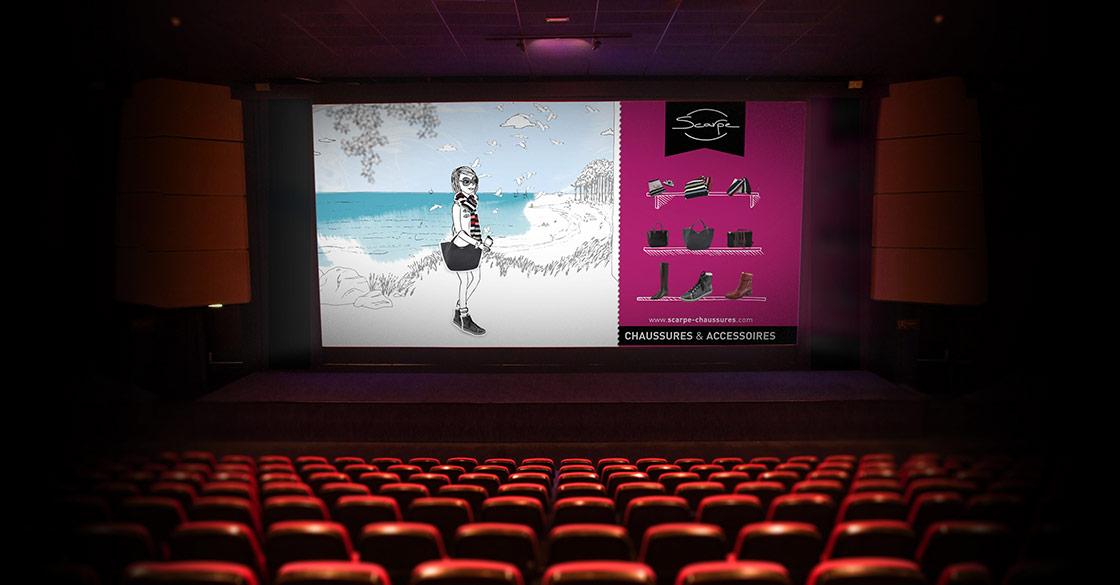 Spot cinéma pour Scarpe