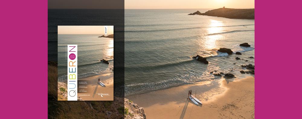 Magazine pour l'office du tourisme de Quiberon