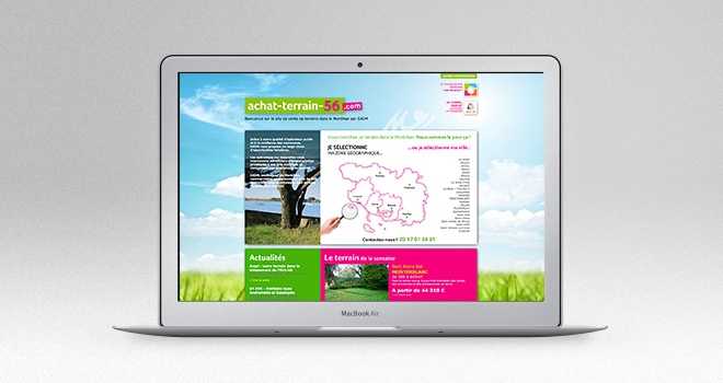 Site web pour Achat Terrain 56