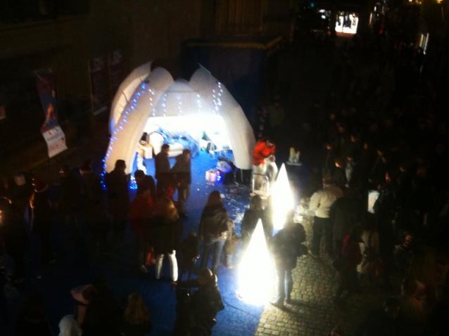 L'igloo de Quintesis pour les animations de Noël à Vannes