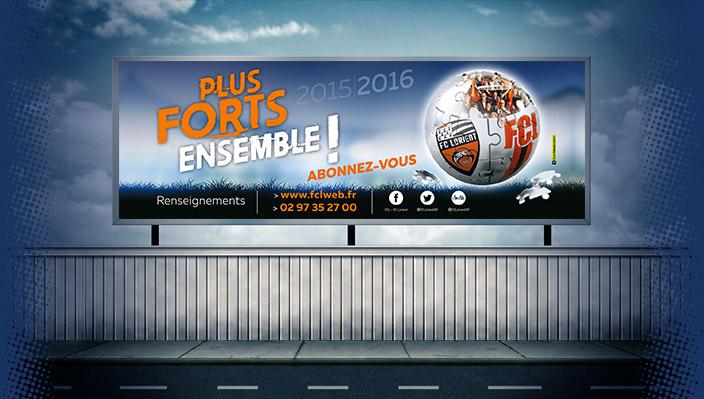 Campagne abonnement Football Club de Lorient