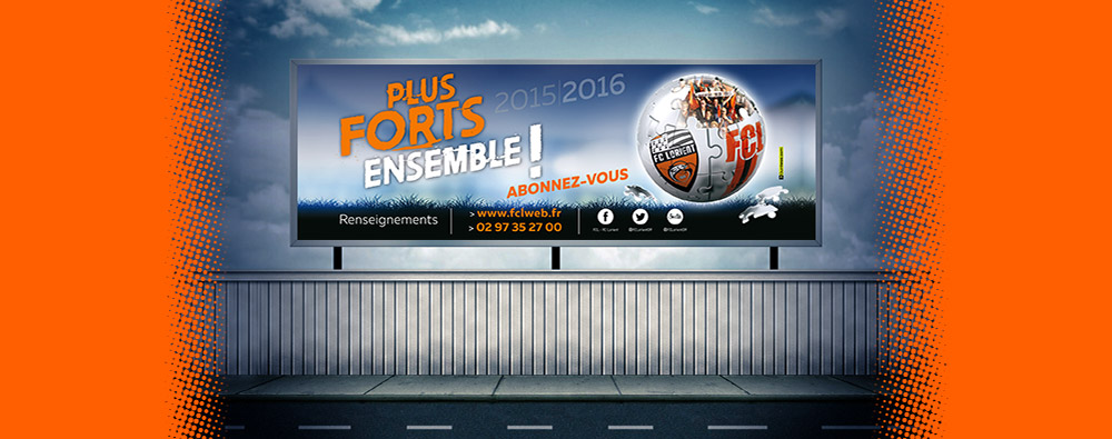 Affiche pour le Football Club de Lorient