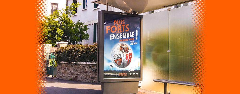 Affiche pour le Football Club de Lorient