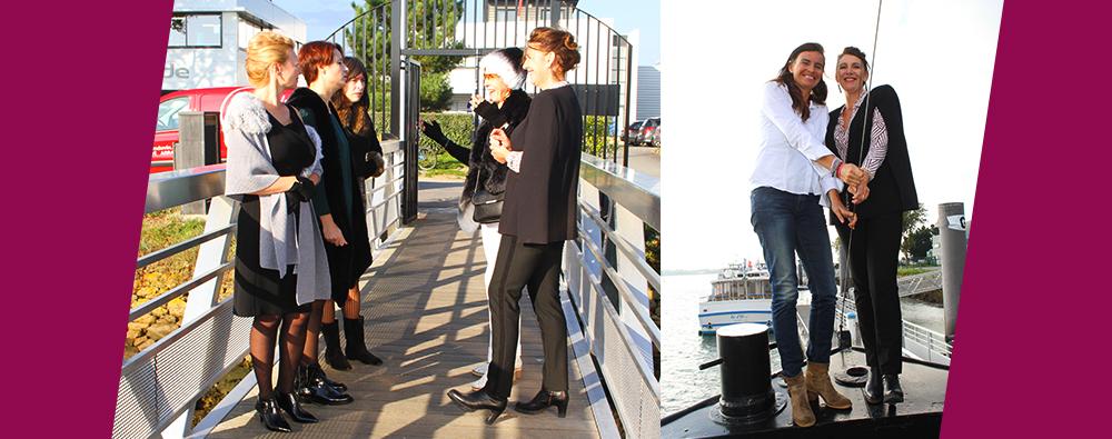 Shooting photo de l'équipe Scarpe au Piano Barge