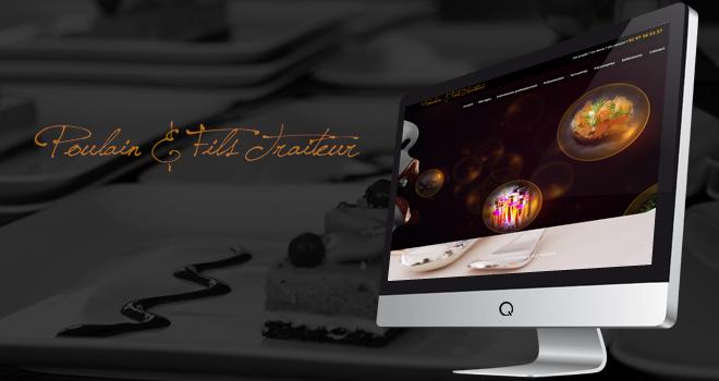 Site internet Poulain & Fils Traiteur