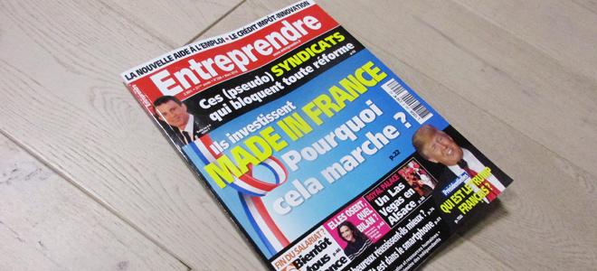 Le magazine Entreprendre - mars 2016