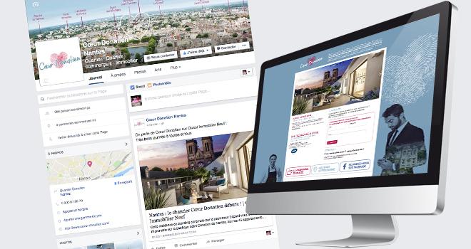 Site internet et page Facebook de Cœur Donatien