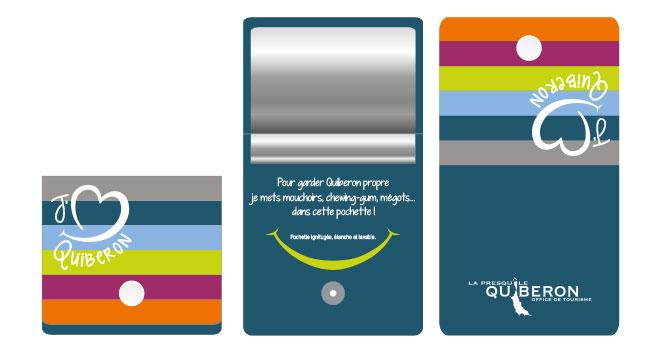 Pochette tendance pour des plages propres à Quiberon !