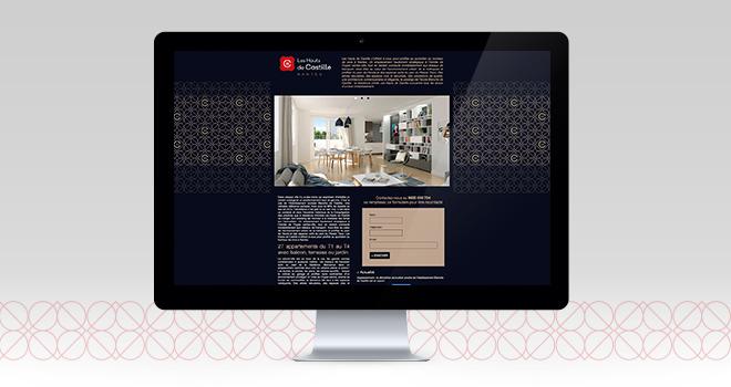 Site web pour Les Hauts de Castille