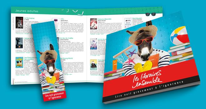 Catalogue et marque-page été 2016 Les Libraires Ensemble