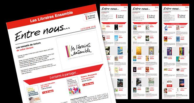 Newsletters entre nous Les Libraires Ensemble