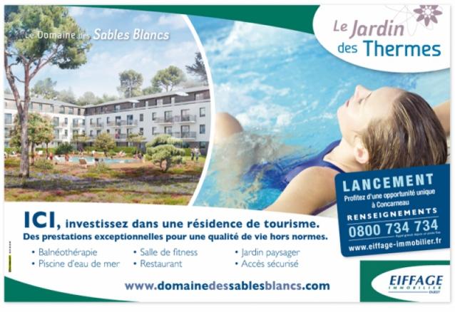 Panneau Le Jardin des Thermes à Concarneau - Eiffage Immobilier