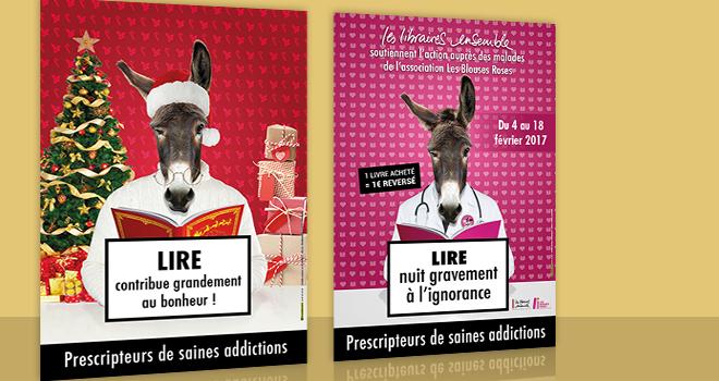 Campagne d'affichage Noël 2016 et Les Blouses Roses
