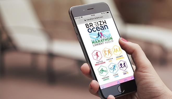 Site mobile du Breizh Océan Marathon de Lorient