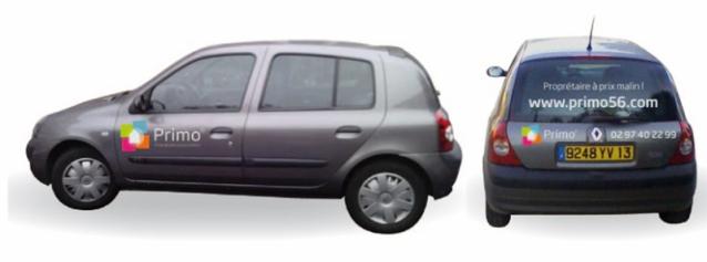 Habillage véhicules pour Primo56