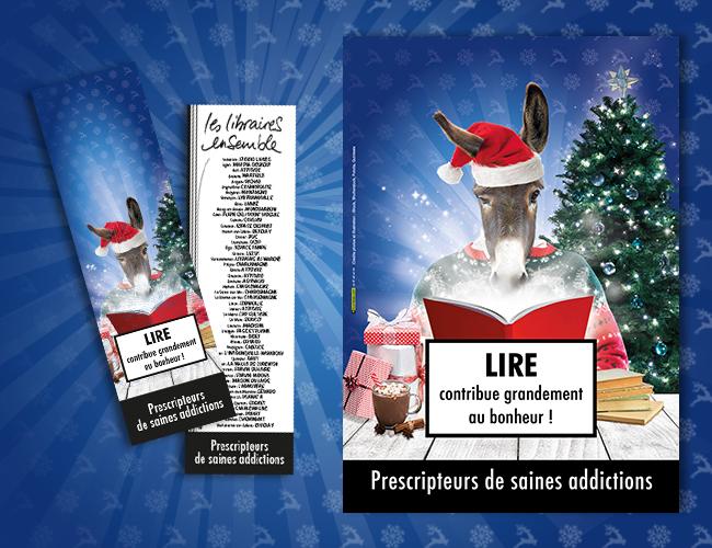 Marque-page et affiche Noël 2017 - Libraires Ensemble