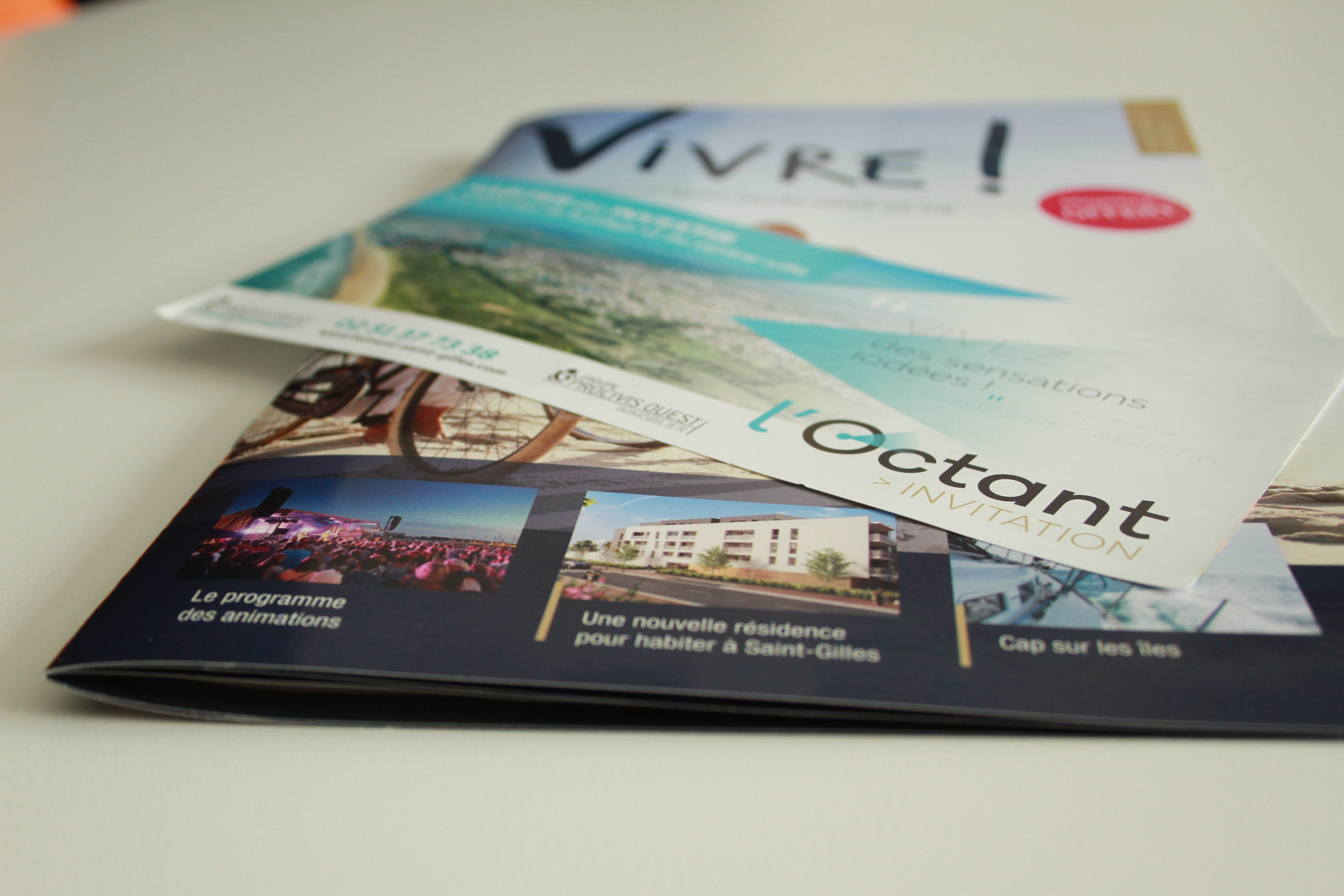 Magazine et flyers pour jeu concours L'Octant