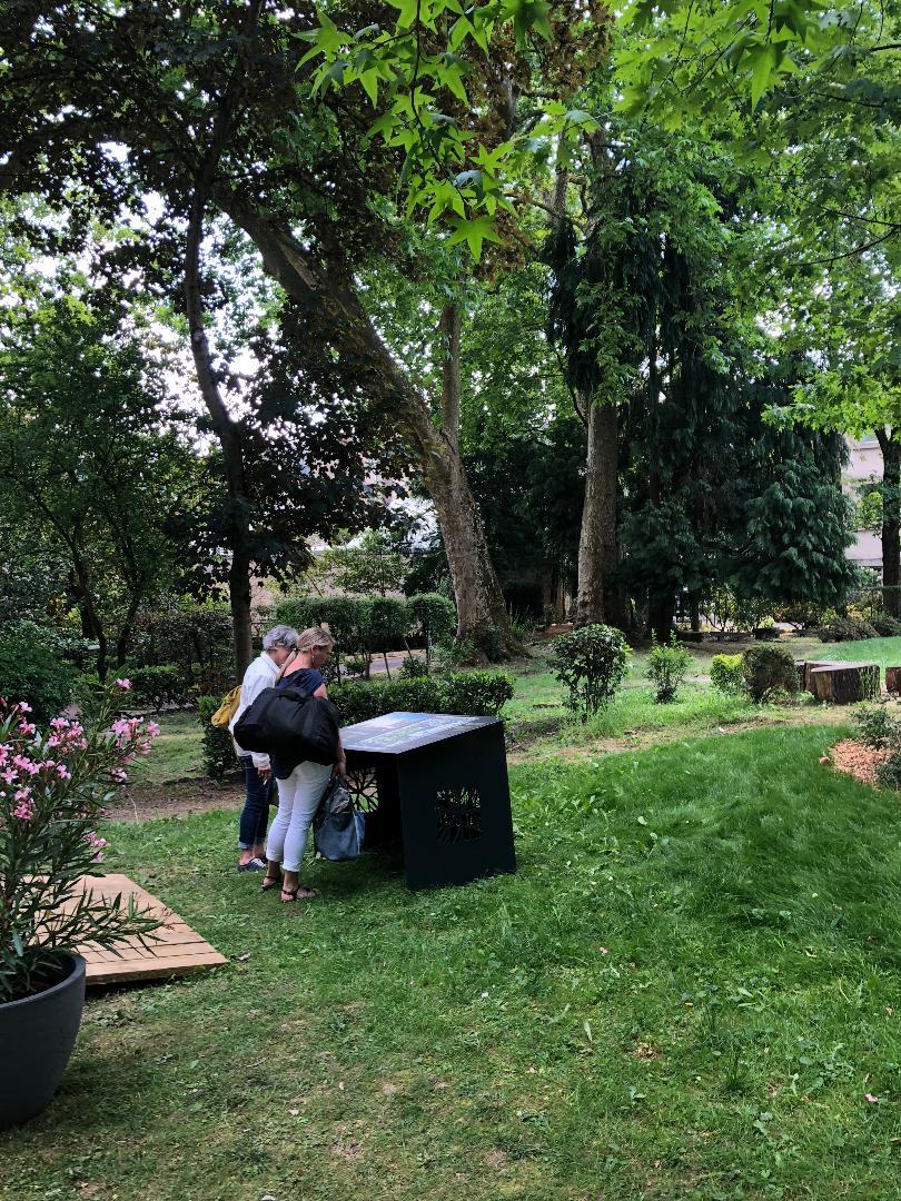 La table d'orientation des Jardins d'Augustin