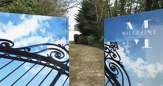 Habillage extérieur sur portail