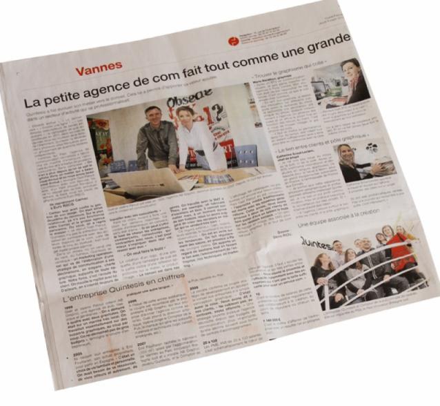 Article sur Quintesis dans Ouest France