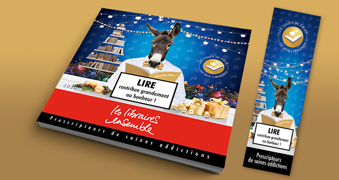 Catalogue et marque-page Noël 2020 - Libraires Ensemble