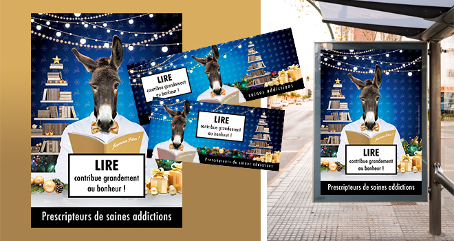 Affiches et visuels web Noël 2020 - Libraires Ensemble
