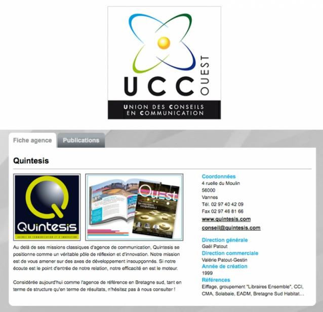 L'agence Quintesis rejoint l'UCC