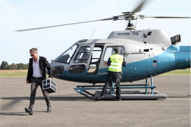Tournage d'un mini-film pour Terravia à l'aéroport de Meucon