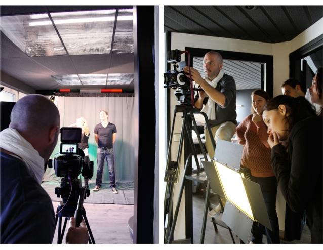 Tournage d'un mini-film pour Terravia dans les locaux de Quintesis