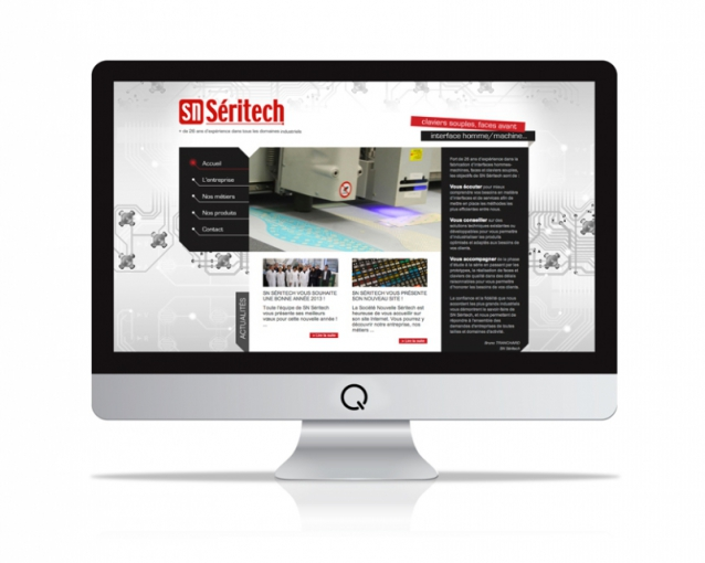 Site internet SN Séritech