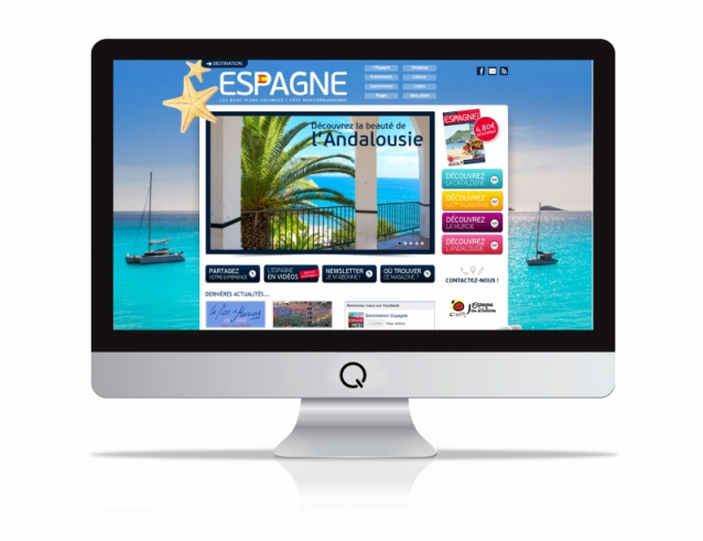 Site internet du guide Destination Espagne
