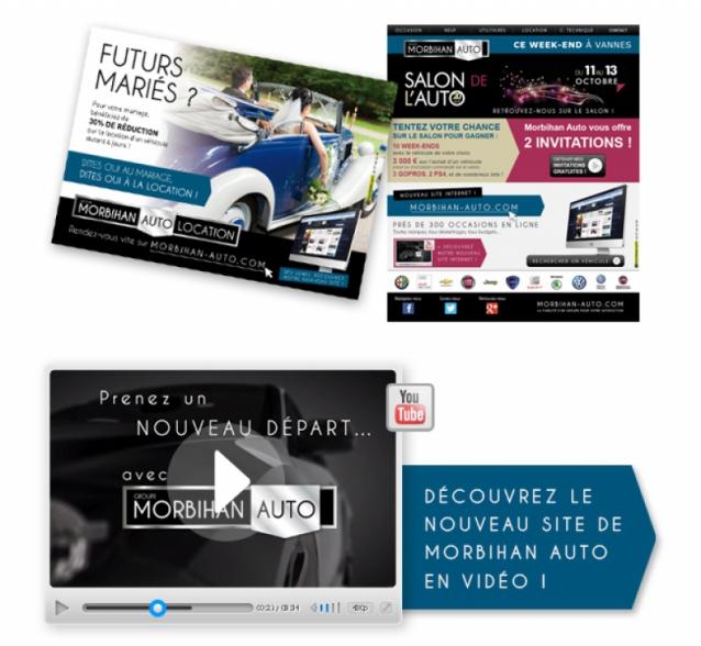 Supports print et digital pour Morbihan Auto