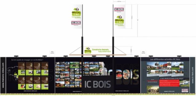 Stand pour IC Bois - Salon de l'Habitat à Vannes