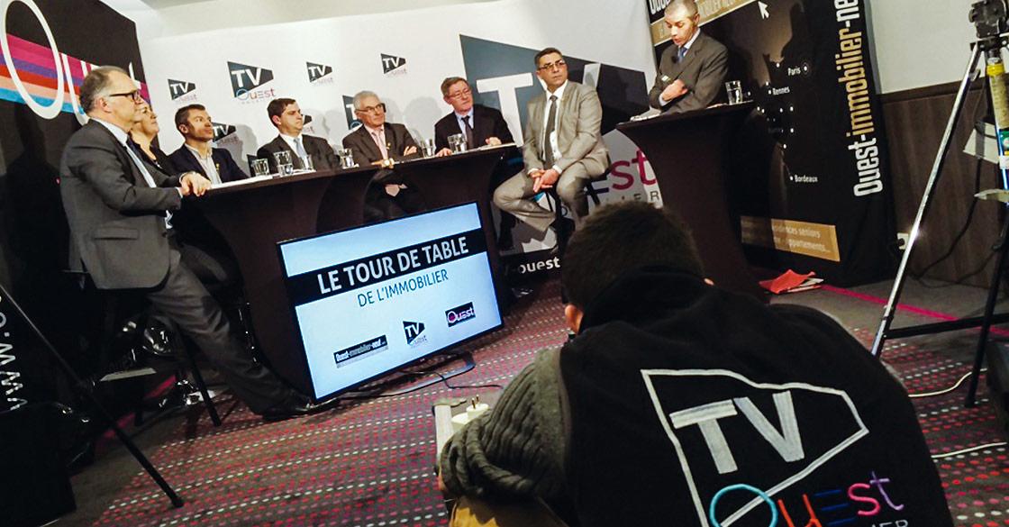 Reportage en cours pour TV Ouest Immobilier