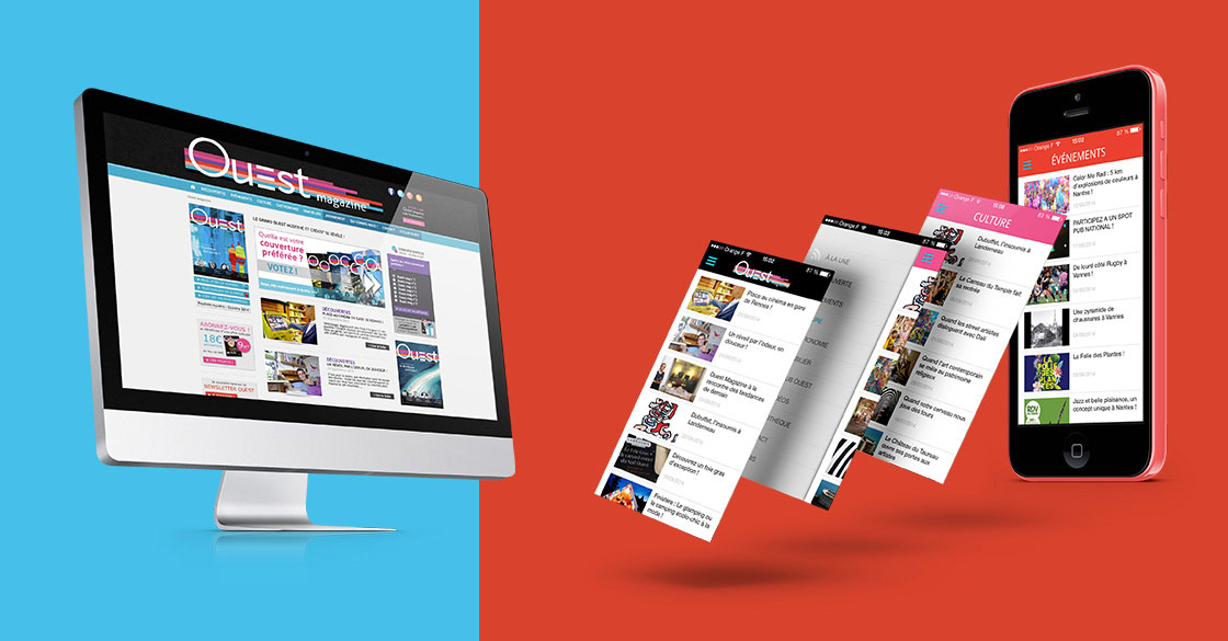 Site internet et application mobile pour Ouest Magazine