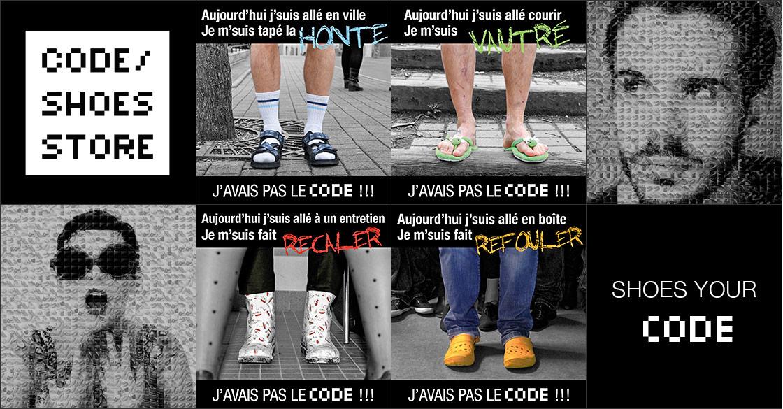 Campagne J'avais pas le Code - Code Shoes Store