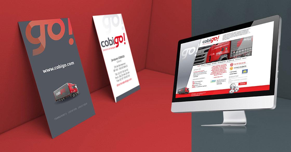 Papeterie et site internet pour Cobigo