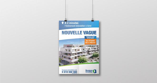 Affiche pour Nouvelle Vague de Bouygues Immobilier